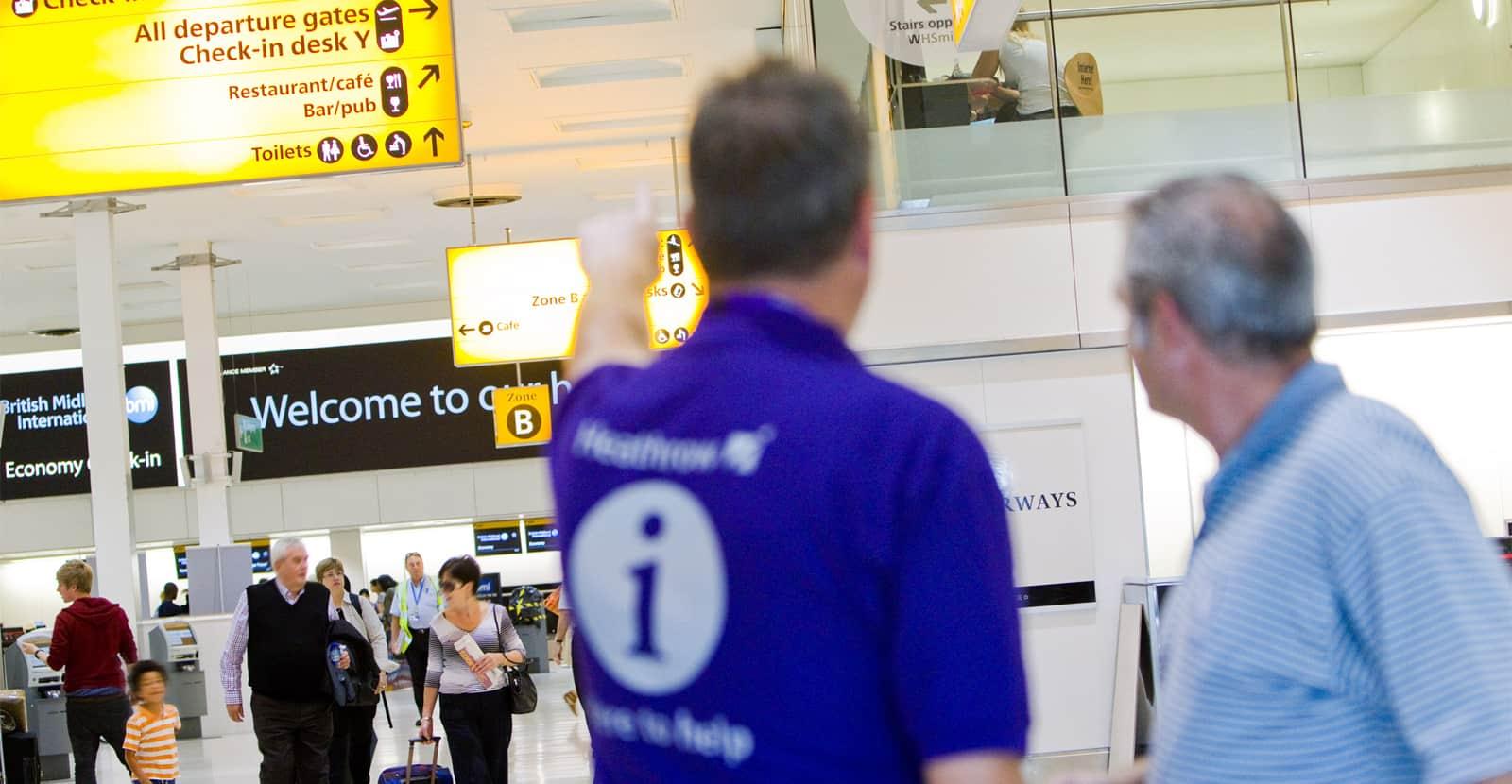 Service design for Heathrow Airport