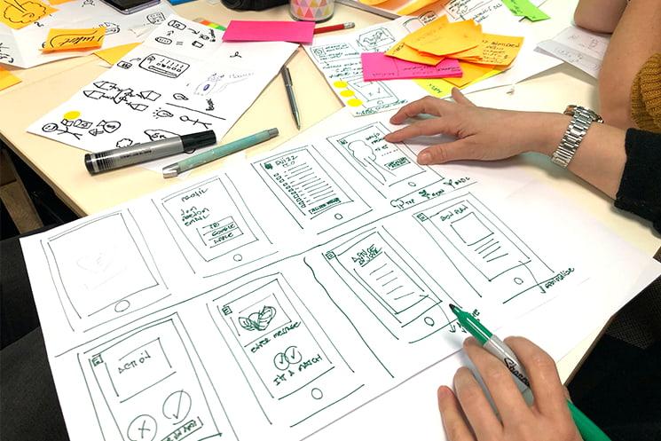 Sketching digital applications