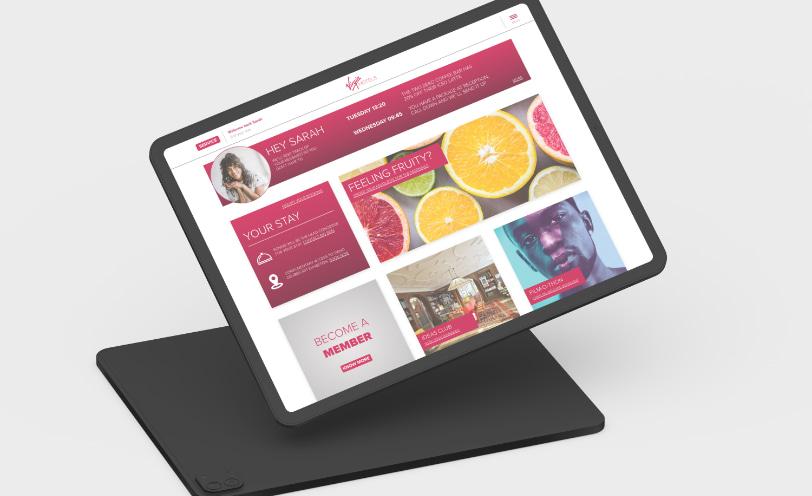 Virgin Hotels website after service design