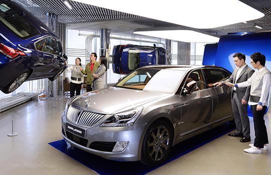 Client at Hyundai Motor Flagship Brand Showroom in Seoul