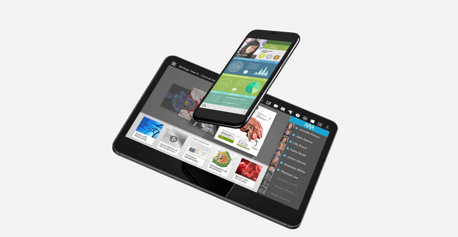Samsung School user interface